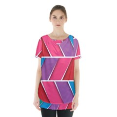 Abstract Background Colorful Skirt Hem Sports Top