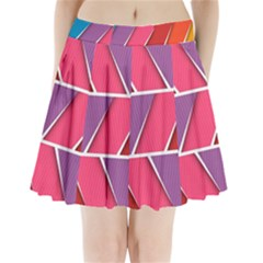 Abstract Background Colorful Pleated Mini Skirt