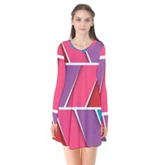 Abstract Background Colorful Flare Dress