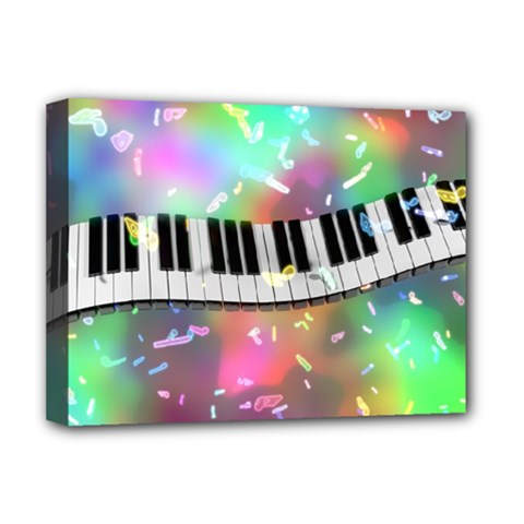 Piano Keys Music Colorful 3d Deluxe Canvas 16  X 12