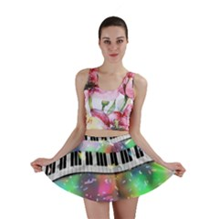 Piano Keys Music Colorful 3d Mini Skirt