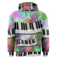 Piano Keys Music Colorful 3d Men s Pullover Hoodie