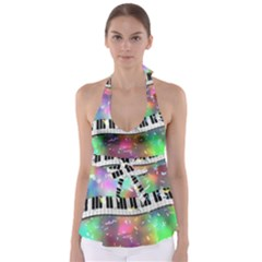 Piano Keys Music Colorful 3d Babydoll Tankini Top