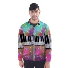 Piano Keys Music Colorful 3d Wind Breaker (men)