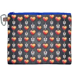 Love Heart Background Canvas Cosmetic Bag (xxxl)