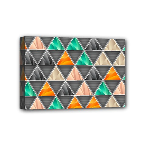 Abstract Geometric Triangle Shape Mini Canvas 6  X 4