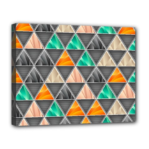 Abstract Geometric Triangle Shape Canvas 14  X 11