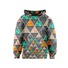 Abstract Geometric Triangle Shape Kids  Pullover Hoodie