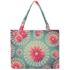 Background Floral Flower Texture Mini Tote Bag