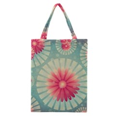 Background Floral Flower Texture Classic Tote Bag