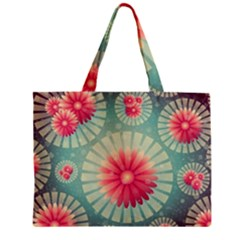 Background Floral Flower Texture Zipper Mini Tote Bag