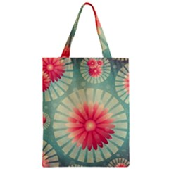 Background Floral Flower Texture Zipper Classic Tote Bag