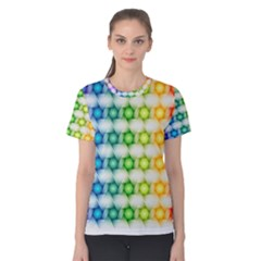 Background Colorful Geometric Women s Cotton Tee