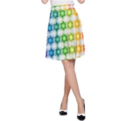 Background Colorful Geometric A Line Skirt