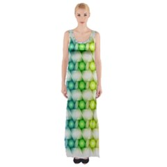 Background Colorful Geometric Maxi Thigh Split Dress