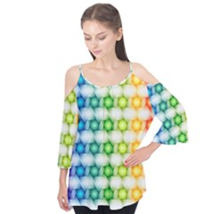 Background Colorful Geometric Flutter Tees