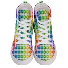 Background Colorful Geometric Men s Hi Top Skate Sneakers