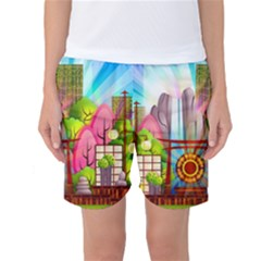 Zen Garden Japanese Nature Garden Women s Basketball Shorts