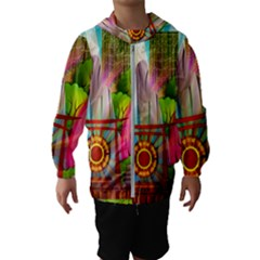 Zen Garden Japanese Nature Garden Hooded Wind Breaker (kids)