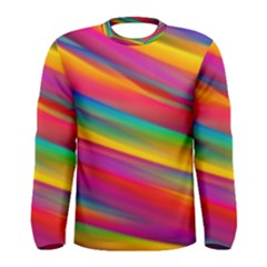 Colorful Background Men s Long Sleeve Tee