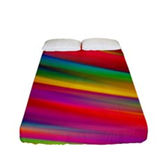 Colorful Background Fitted Sheet (full/ Double Size)