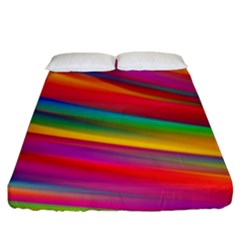 Colorful Background Fitted Sheet (king Size)