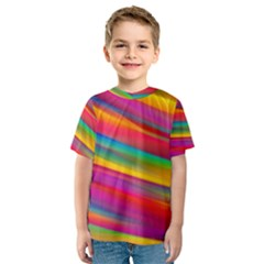 Colorful Background Kids  Sport Mesh Tee