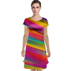 Colorful Background Cap Sleeve Nightdress