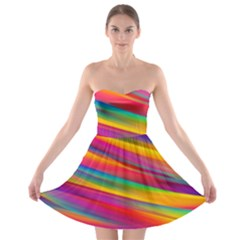 Colorful Background Strapless Bra Top Dress