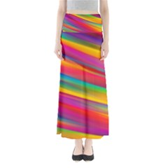Colorful Background Full Length Maxi Skirt