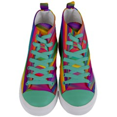 Colorful Background Women s Mid Top Canvas Sneakers