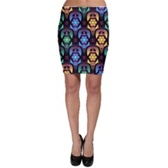 Pattern Background Bright Blue Bodycon Skirt