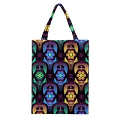 Pattern Background Bright Blue Classic Tote Bag