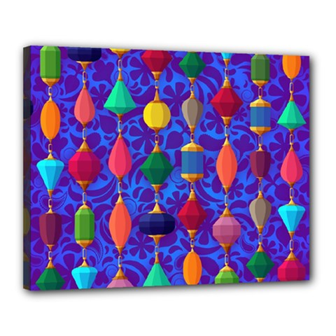 Colorful Background Stones Jewels Canvas 20  X 16