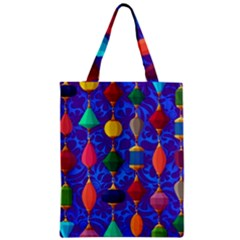 Colorful Background Stones Jewels Zipper Classic Tote Bag