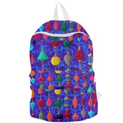 Colorful Background Stones Jewels Foldable Lightweight Backpack
