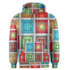 Tiles Pattern Background Colorful Men s Pullover Hoodie