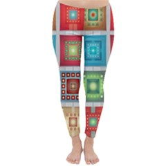 Tiles Pattern Background Colorful Classic Winter Leggings