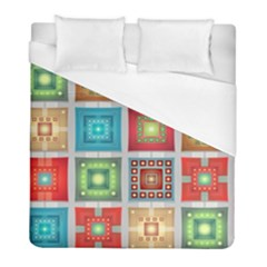 Tiles Pattern Background Colorful Duvet Cover (full/ Double Size)