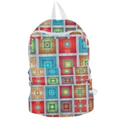 Tiles Pattern Background Colorful Foldable Lightweight Backpack