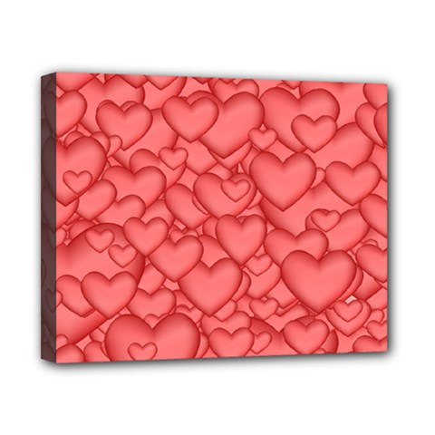 Background Hearts Love Canvas 10  X 8