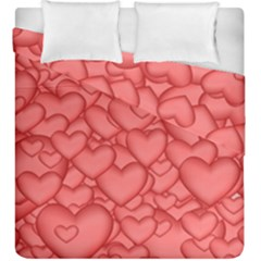 Background Hearts Love Duvet Cover Double Side (king Size)