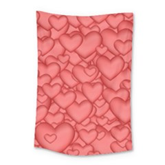 Background Hearts Love Small Tapestry