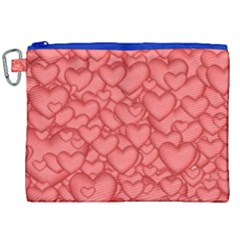 Background Hearts Love Canvas Cosmetic Bag (xxl)