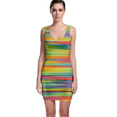 Colorful Background Bodycon Dress