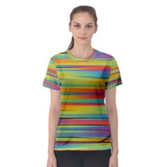 Colorful Background Women s Sport Mesh Tee