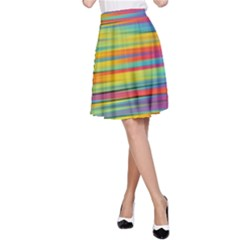 Colorful Background A Line Skirt