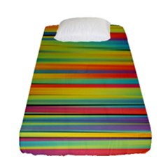 Colorful Background Fitted Sheet (single Size)