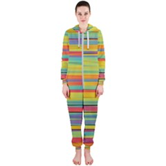 Colorful Background Hooded Jumpsuit (ladies)
