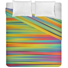Colorful Background Duvet Cover Double Side (california King Size)